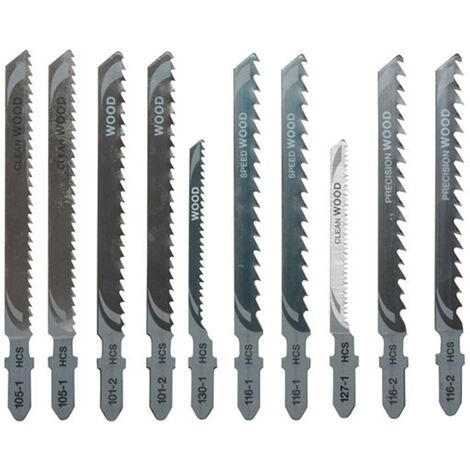"main image of ""Dewalt DT2290 10 Piece Wood Cutting Jigsaw Blades Set + Case DT2290-QZ"""