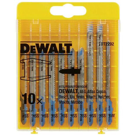 Dewalt DT2292QZ 10 Piece Metal Cutting Jigsaw Blade Set
