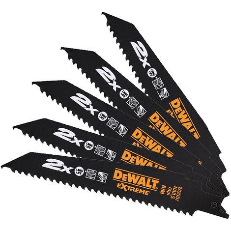 DeWalt DT2307L-QZ 228mm 6TPI Wood & Nail Reciprocating Blades Pack of 5
