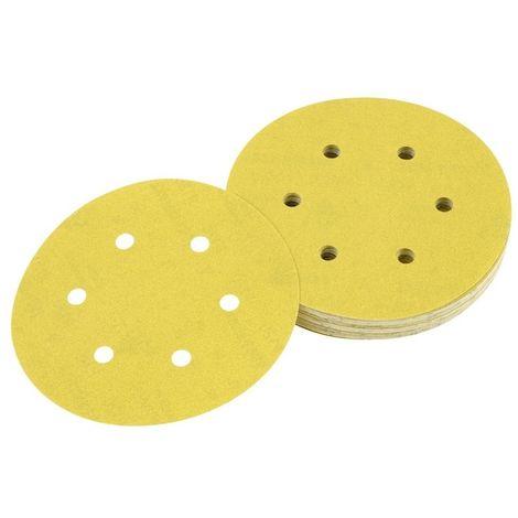 DEWALT DT3136-QZ - Pack Disco de lija con 6 orificios 150mm grano 180