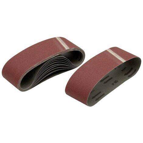 DEWALT DT3301-QZ - Pack de 10 bandas de lija 75x533 grano 40 para DW431