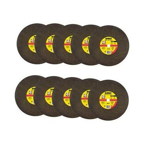 Dewalt DT3450 Abrasive Chop Saw Wheel 355mm - Pack of 10 - Suits D28710