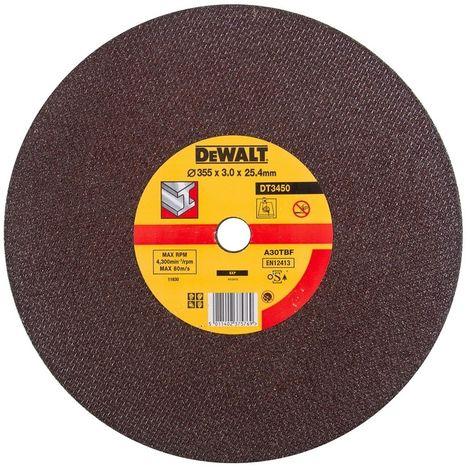 DEWALT DT3450-QZ - Disco para sierra tronzadora para metal 355 x 3 x 25.4mm