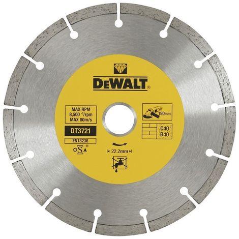 DEWALT DT3721-QZ - Disco de diamante corte en seco borde segmentado 180x22.2mm materiales de construcción