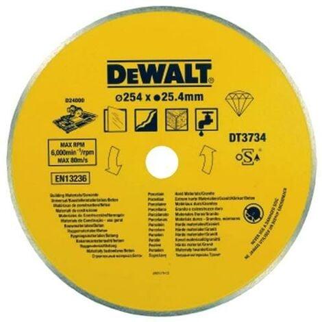 "main image of ""Dewalt DT3734 Diamond Wet Cutting Porcelain/Stone Saw Blade 254x25.4mm"""