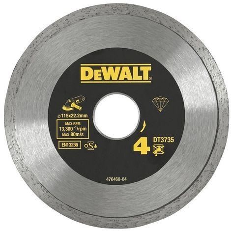 DEWALT DT3735-XJ - Disco de diamante 115mm corte de ceramicas. azulejos y porcelanato.