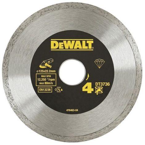 DEWALT DT3736-XJ - Disco de diamante 125mm corte de ceramicas. azulejos y porcelanato.