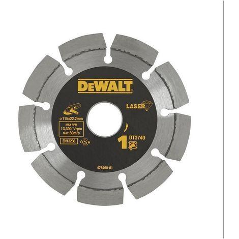 DEWALT DT3740-XJ - Disco de diamante 115mm corte de materiales de construccion y hormigon
