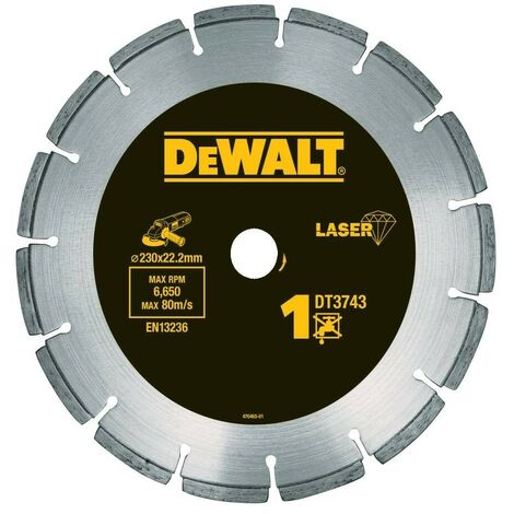 DEWALT DT3743-XJ - Disco de diamante 230mm corte de materiales de construccion y hormigon