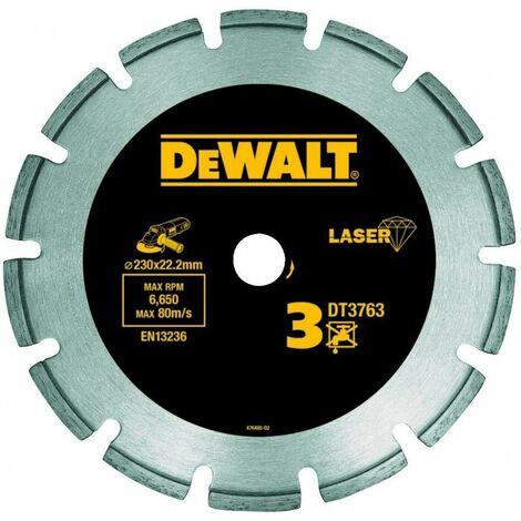 Dewalt DT3763-XJ Disque laser pour béton dur/granités 230x22.2mm, hauteur segment 8.5mm 230