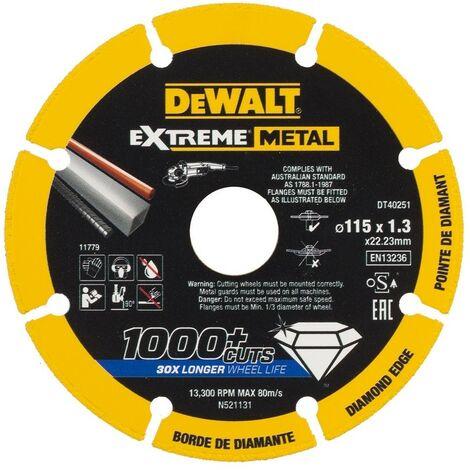 """main image of """"Disque à découper les métaux 115X1,3X22,23Mm Extreme Dewalt 1 Ud Dt40251-Qz"""""""