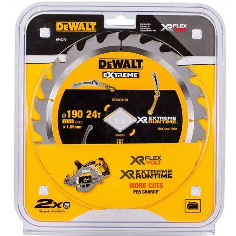 Dewalt DT40270 Extreme Runtime High Torque Circular Saw Blade 190 x 24T DCS577