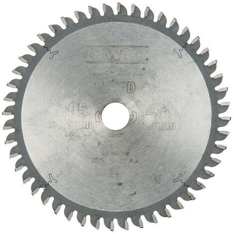 DEWALT DT4087-QZ - portablelame de scie circulaire 165x20mm 48D TCG -5 °