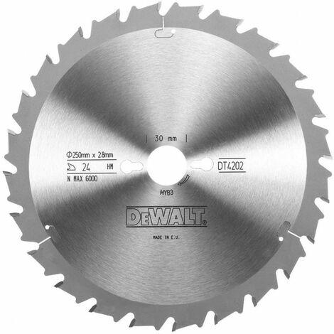 Dewalt DT4202-QZ Lame de scie radiale 250x304mm 24 dents 250/30