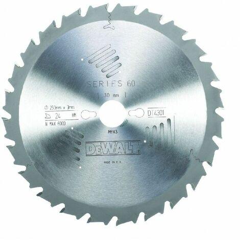 Dewalt DT4301-QZ Lame de scie radiale 250x30 4mm 24 dents 250/30