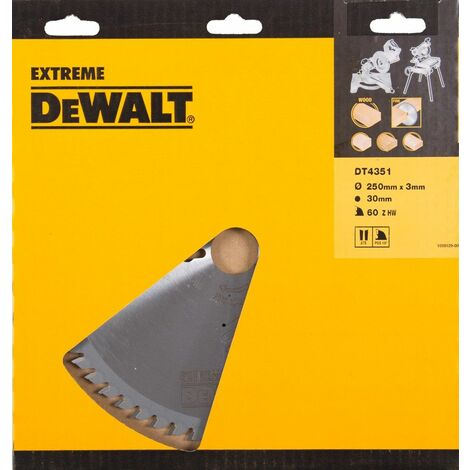 DeWalt DT4351 Lame pour scie stationnaire - 250mm