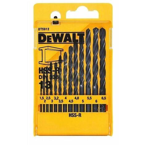 DeWalt DT5912 HSS-R-DIN Drill Bit Set 13 Piece