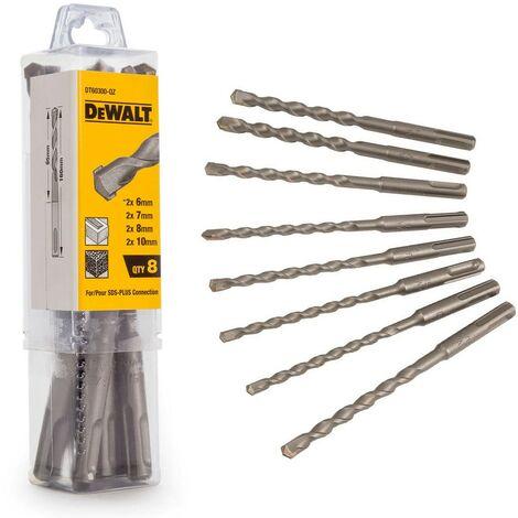 DeWalt DT60300 8 Piece SDS + SDS Plus Drill Bit Set 6 7 8 10mm DT60300-QZ Case