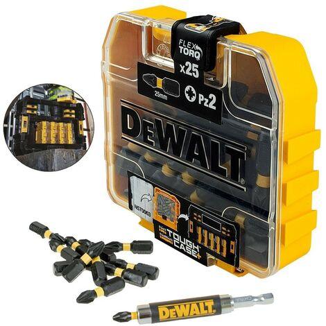 Dewalt DT70621T 25 Piece Impact Torsion Screwdriver Bits FLEXTORQ Tough Case