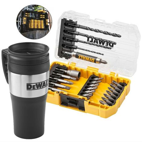DeWalt DT70706 25 Piece Rapid Load Hex Screwdriver Drill Bit Set + Thermo Mug