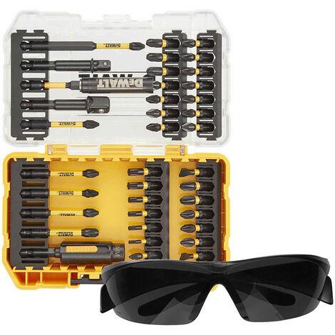 DeWalt DT70740T 38pc FLEXTORQ Screwdriver Bit Set with Safety Glasses