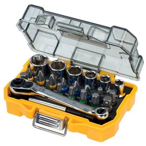 DEWALT DT71516-QZ - Juego de 24 piezas con llaves de vaso y Punta de atornillar.