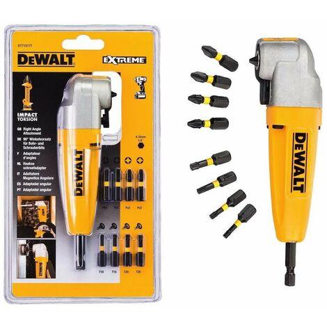 Dewalt DT71517T Right Angle Drill Attachment +9 Torsion Impact Screwdriving Bits