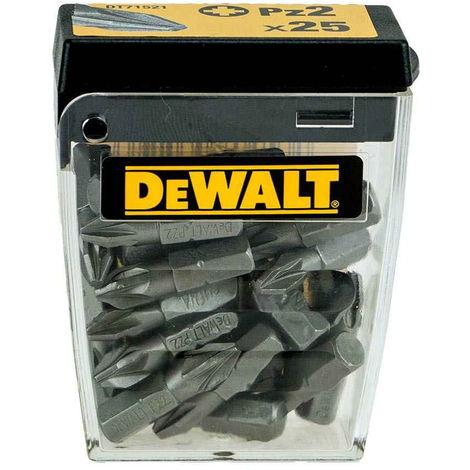 DeWalt DT71521-QZ 25mm PZ2 Standard Screwdriver Bits Tic Tac 25 Piece