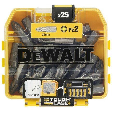 DEWALT DT71521-QZ - Juego de 25 puntas Pz2 de 25 mm