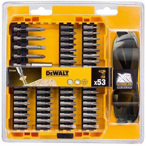 DeWalt DT71540 Juego de brocas de 53 piezas en cassette + gafas de sol protectoras