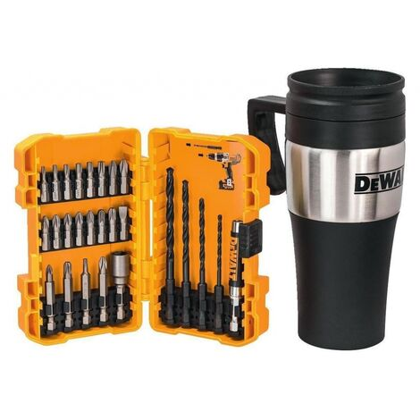 DeWalt DT71580 Rapid Load Hex Screwdriving & Drill Bit Set x26 Pcs inc Mug