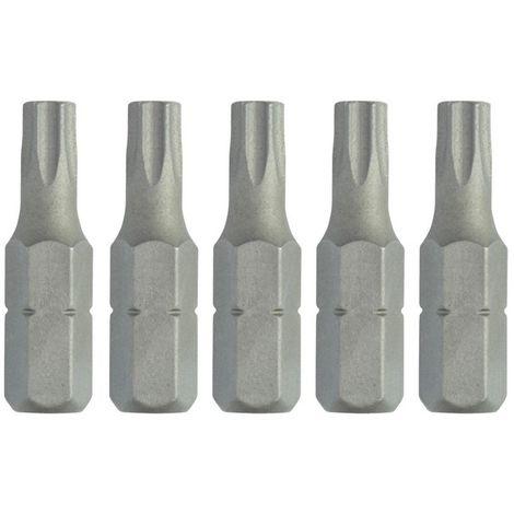 Dewalt DT7256-QZ Puntas Torx 25 mm T25, Set de 5 Piezas