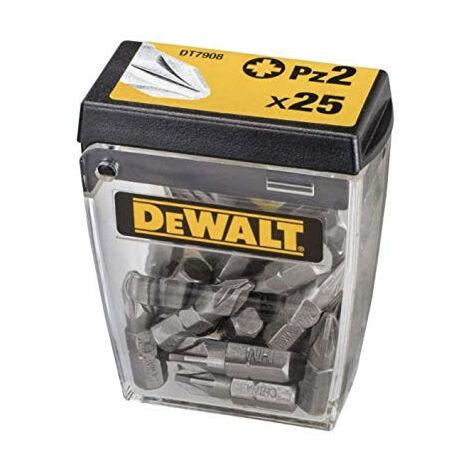 Dewalt DT7908 Torsion Phillips Bits PZ2 25mm Flip Box of 25