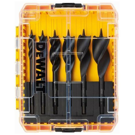 DEWALT DT90238-QZ - Juego de brocas de triple flauta ext 152mm (13mm 16mm 20mm 22mm 25mm 32mm)