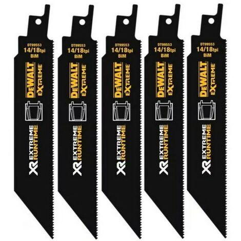 Dewalt DT99555-QZ Lame de scie sabre XR Runtime pour la coupe du bois 230mm