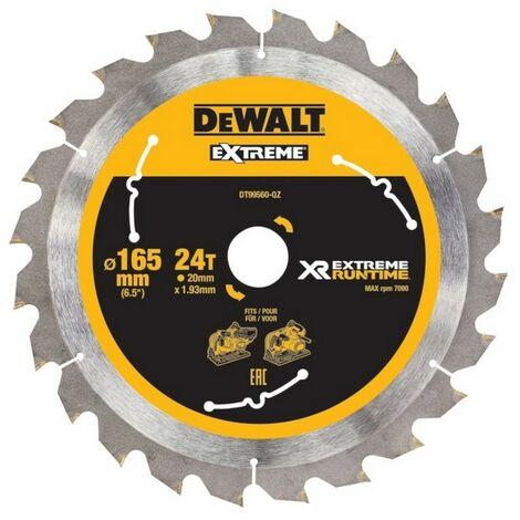 Dewalt DT99560-QZ Lame de scie circulaire plongeante XR Runtime 165x20mm 24 dents 165/20