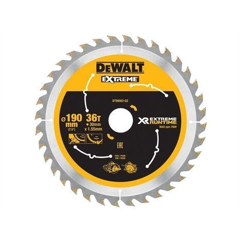 DeWalt DT99563-QZ Xtreme Runtime FlexVolt Circular Saw Blade 190mm x 30mm 36T