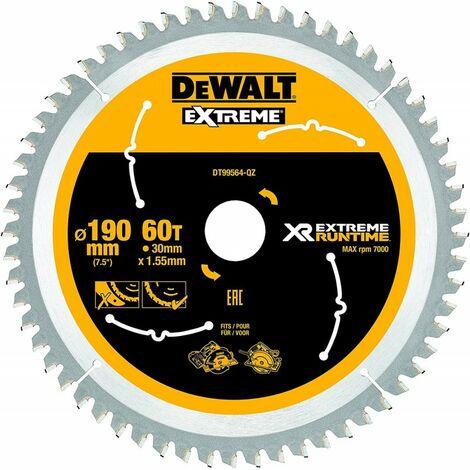 DEWALT DT99564-QZ - portablelames de scie Circulaire XR EXTRÊME RUNTIME 190mm x 30mm 60D 25 °