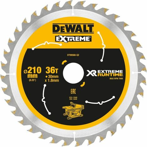 Dewalt DT99566-QZ Lame de scie circulaire stationnaire XR Runtime 210x30mm 210/30