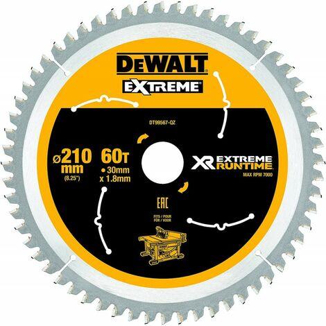 Dewalt DT99567-QZ Lame de scie circulaire stationnaire XR Runtime 210x30mm 60 dents 210/30