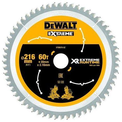 Dewalt DT99570-QZ Lame de scie circulaire stationnaire XR Runtime 216x30mm 60 dents 216/30