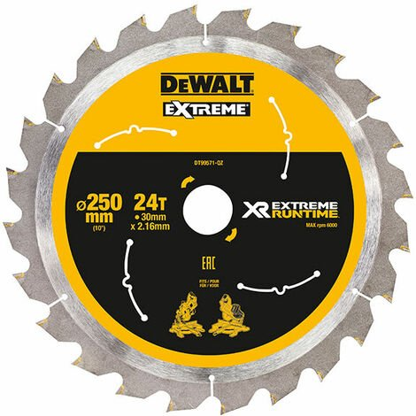 DeWalt DT99571-QZ Extreme Runtime FlexVolt Mitre Saw Blade 250 x 30mm x 24T