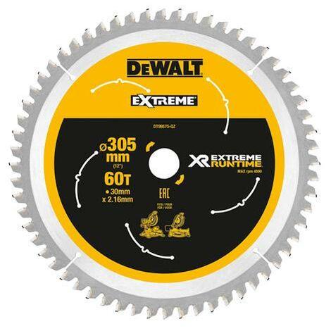 DeWalt DT99575-QZ XR FLEXVOLT eXtreme Runtime 305mm x 30mm x 60T Mitre Saw Blade for DHS780
