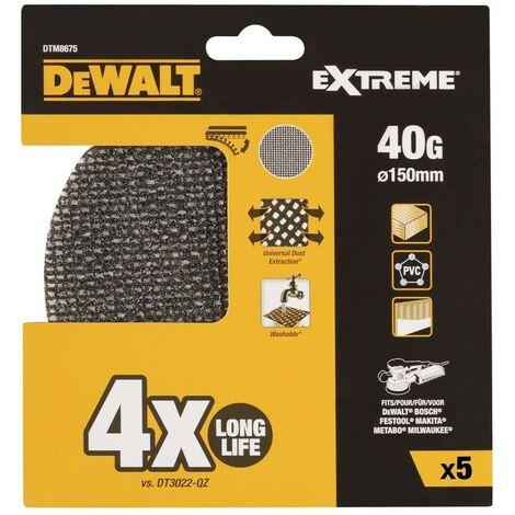 """main image of """"DEWALT DTM8675-QZ - Disco de lija de malla 150mm grano 40 lijadora rotorbital (5 ud)"""""""