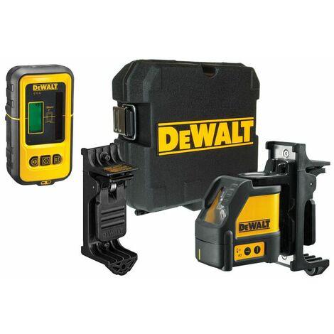 DeWalt DW088KD Laser en croix dans coffret (DW088K) & Détecteur laser (DE0892) - 2 lignes - 50m