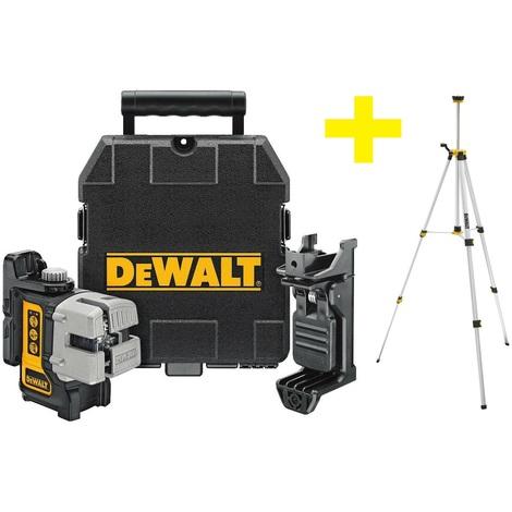 DeWalt DW089KTRI Nivel láser en cruz autonivelante en maletín (DW089K) + tripode en bolsa (DE0881)