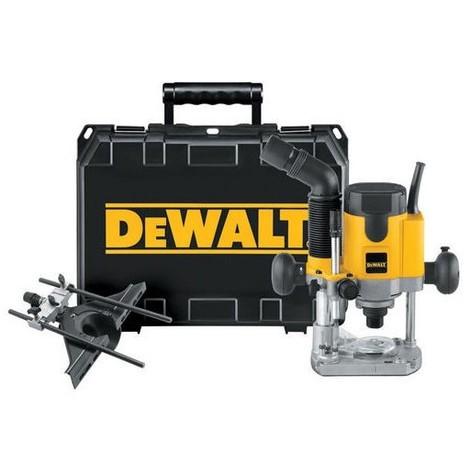 DeWALT DW621K Défonceuse Ø6-8mm 1100W + guide parallèle à réglage et coffret