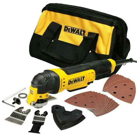 Dewalt DWE315 240V Corded Oscillating Multi Tool + Tool Bag +36PC Accessory Set