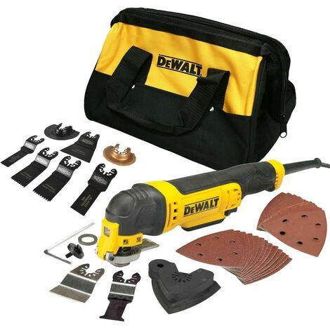 Dewalt DWE315 240v Multitool Corded Oscillating Multi Tool Carry Bag + 36 Access