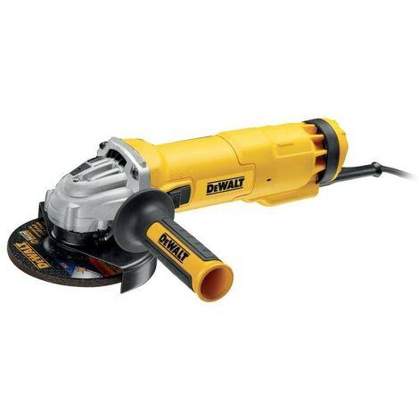 DEWALT DWE4237-QS - Mini-amoladora 125mm 1.400W 11.500 rpm Arranque Suave con Bloqueo y re-arranque